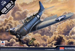 "ACADEMY - ACA12296 - SBD-2 DAUNTLESS  ""MIDWAY"" - 1/48"